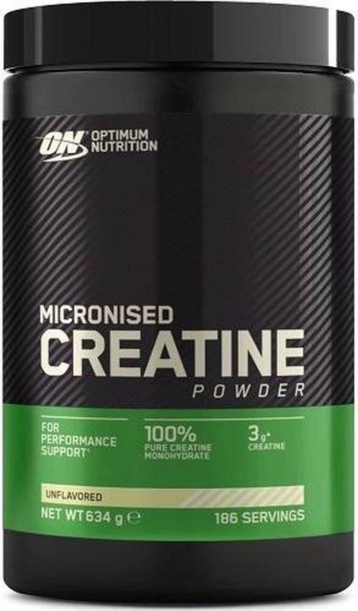 Optimum Nutrition - Creatine (Micronized) - Creatine Poeder - 634 Gram (176 doseringen) - 1 Pot