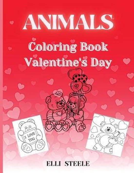 Animals Coloring Book Valentine's Day