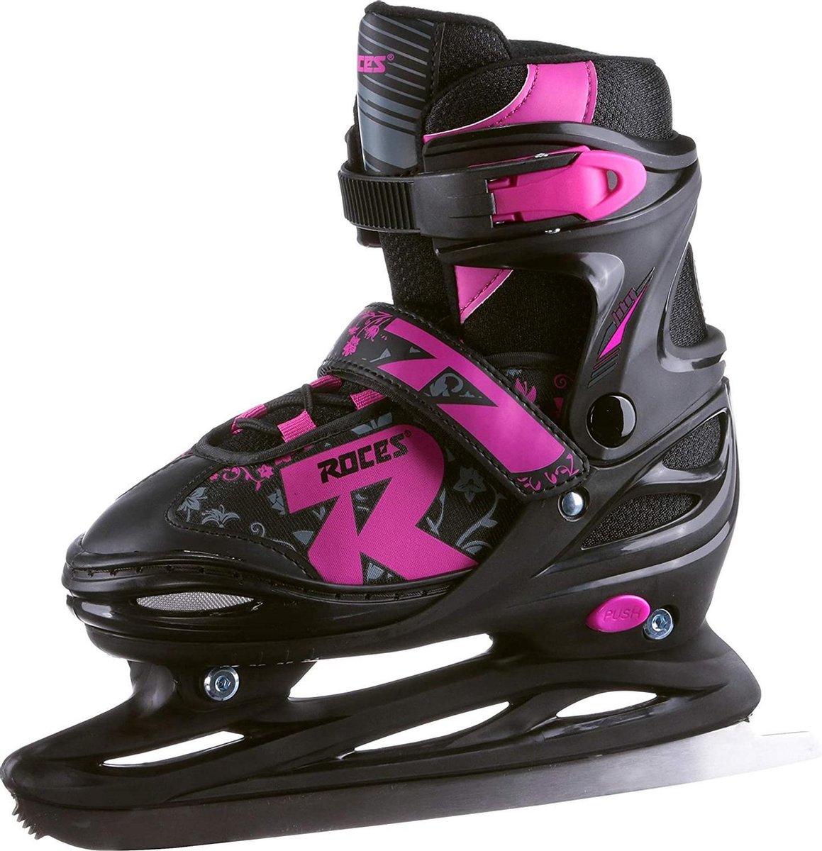 Roces - Jokey ice 2.0 - Verstelbare schaatsen - Maat 34-37 - Zwart - Roze - IJshockeyschaats voor kinderen