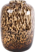 Glazen vaas Artic Cheetah Ø25 x H35 cm