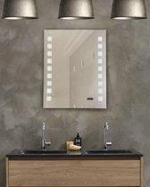 Luxe Badkamerspiegel (B-Grade) - Spiegel met LED Verlichting - Wandspiegel - Digitale klok - 60x50 cm - Make up