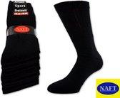 Sport sokken 10 pak zwart 43-46