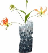 Tiny Miracles - Duurzame Design Vaas - Paper Vase Cover - Grey Gradient - Small