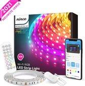 Nince Smart Ledstrip 10 Meter (2x5) Wifi - SMD 5050 RGB LED 16 Miljoen Kleuren - Bestuurbaar met App - Led strip 2021 Model - Geschikt voor iOS en Android