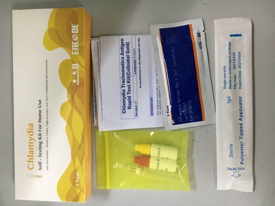 Encode Chlamydia zelftest 2 st | Chlamydia Test Man&Vrouw Toegankelijk en 100% anoniem , CHLAMYDIA ZELFTEST| 2 stuks