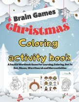 Brain Games Christmas Coloring activity book