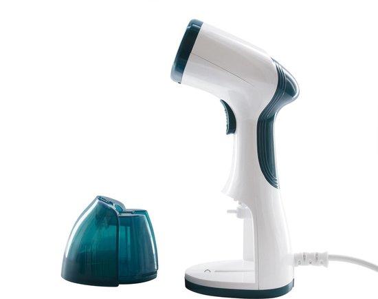 Tomado TSH1201W - Kledingstomer - 1200 Watt - RVS zool - Wit/turquoise