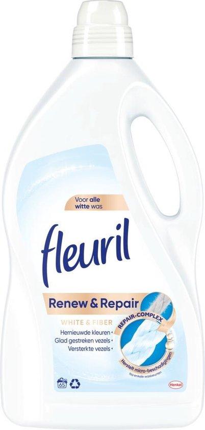 4x Fleuril Wasmiddel White & Fiber 3900 ml