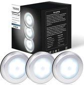 Kastverlichting LED met bewegingssensor- Kastlamp op batterij Draadloos (3 PACK)