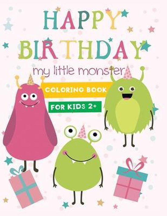 monster birthday coloring book