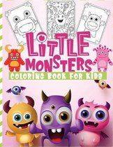 little monster coloring book for kids