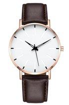 Horloge lerenband • Unisex • Mode • Stijlvol • horloge • verstelbaar