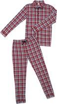 La-V Flanel pyjama set voor jongen met geruit patroon  128-134