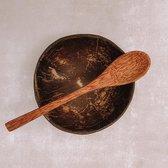 Coconut Bowl & Lepel   LARGE    Doorsnede Ø 12 cm    Zero Waste   Kokosnoot Kom   Bowls  Handgemaakt in Vietnam   Trevadua
