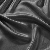Beauty Silk - Hoeslaken Satijn - Antraciet - 90x200