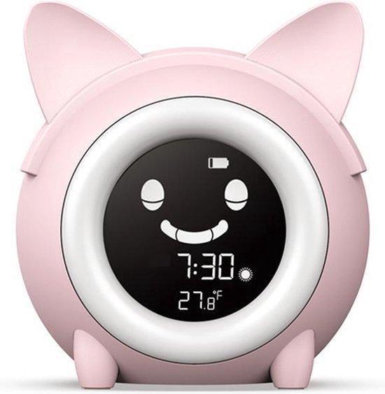 Greenure Slaaptrainer voor Kinderen - Slaaptrainer - Kinderwekker - Wake Up Light - Nachtlamp - USB Poort - Roze - Voor een Betere Sfeer in Huis