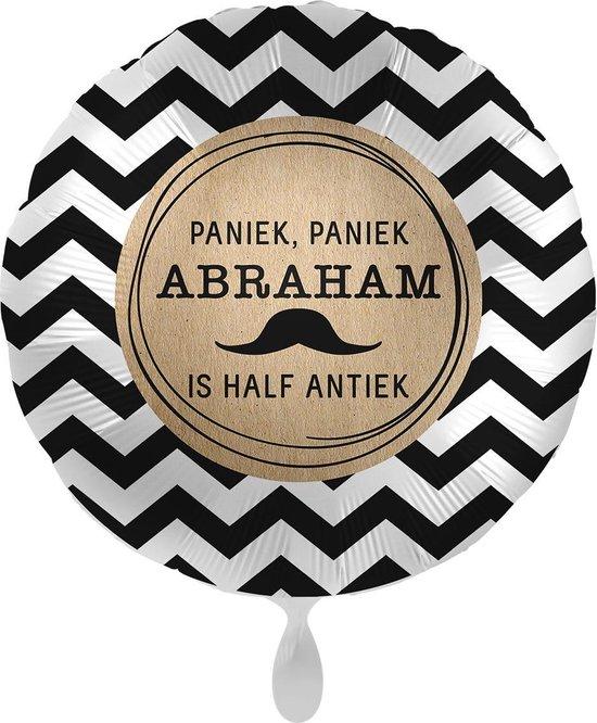 Everloon - Folieballon - Paniek, Paniek Abraham Is Half Antiek - 43cm