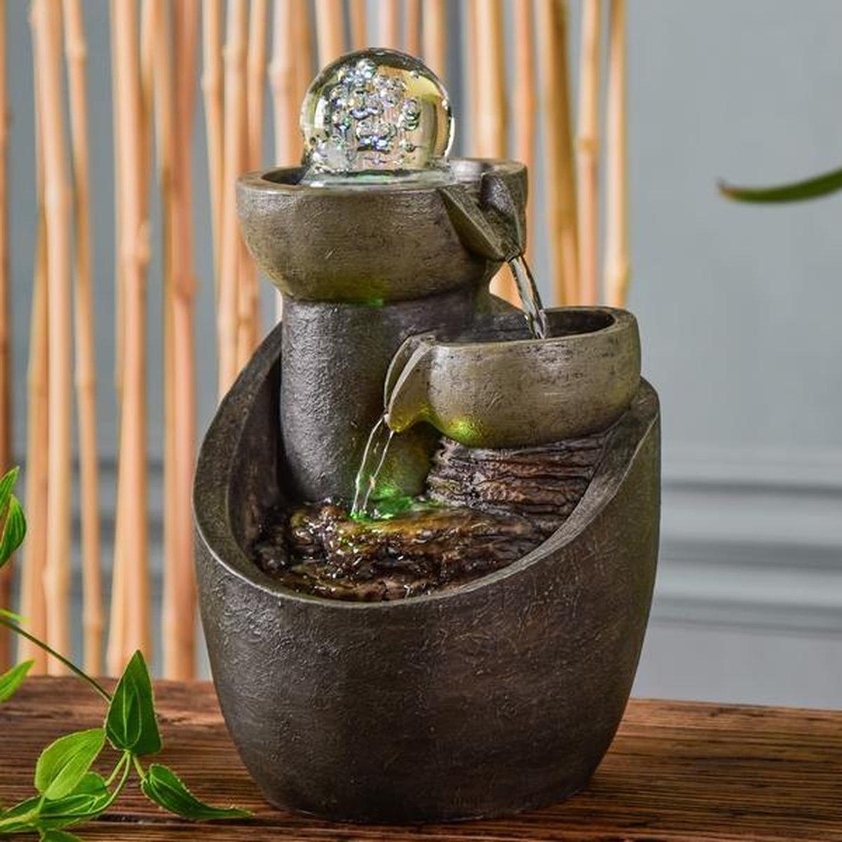Malla Relax - fontein - interieur - fontein voor binnen - relaxeer - zen - waterornament - cadeau - geschenk - relatiegeschenk - origineel - lente - zomer - lentecollectie - zomercollectie - afkoeling - koelte