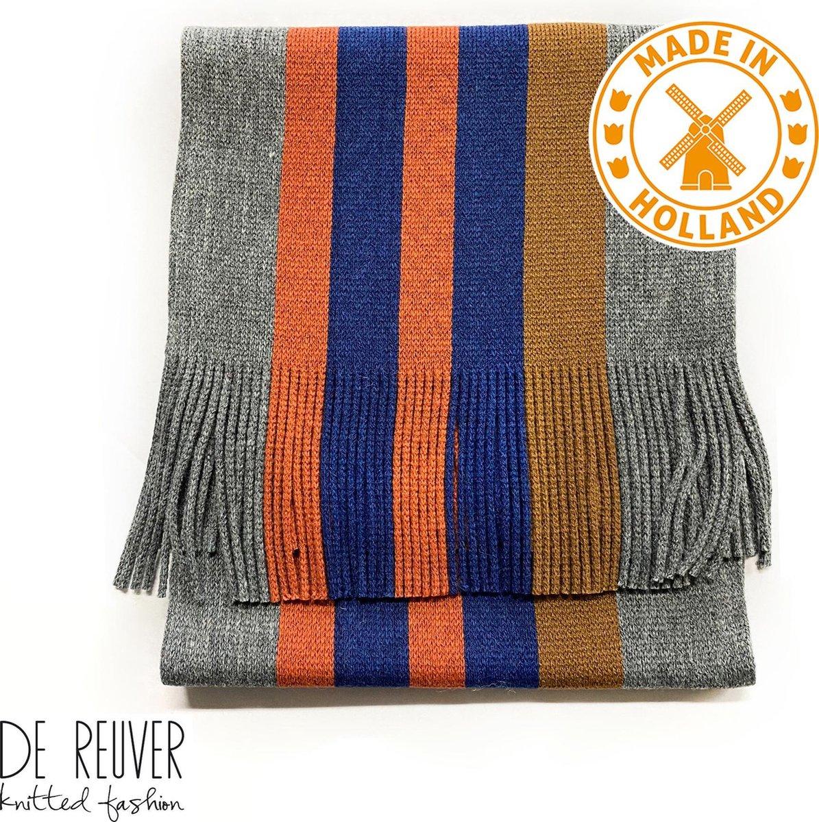 De Reuver Knitted Fashion HEREN SJAAL 100% NEDERLANDS (203)