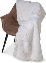 Plaid-dekens- jacquard Cube beige 150x200cm polyester