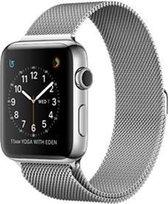 Milanees Geschikt voor Apple watch bandje 42mm / 44mm RVS - Zilver - Geschikt voor Apple watch bandjes