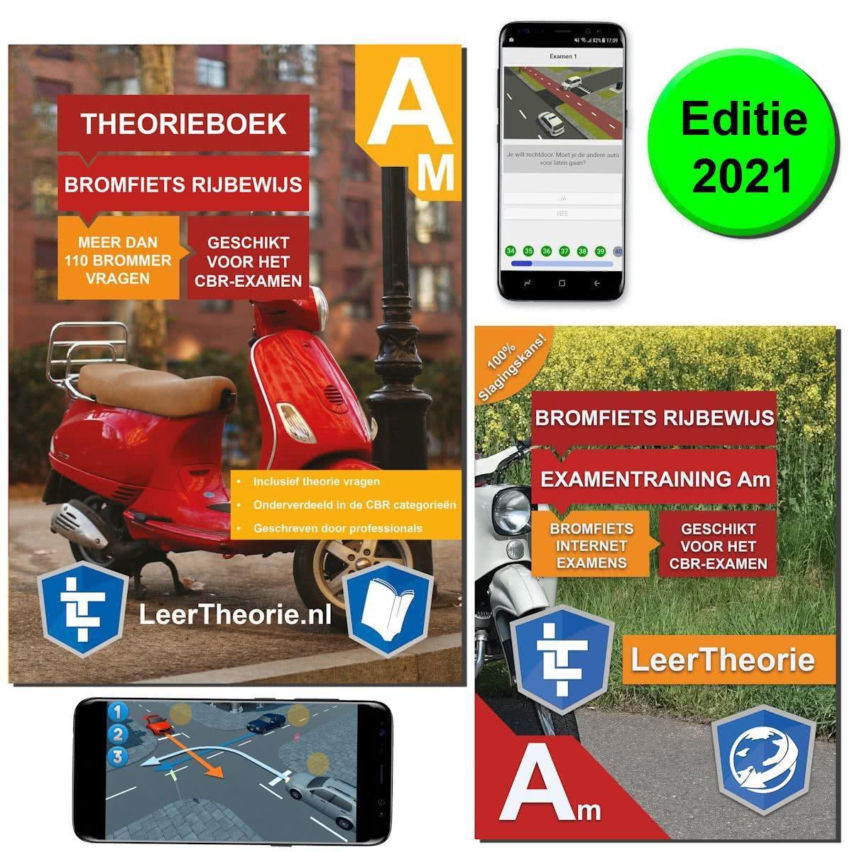 ScooterTheorie Boek 2021 - Bromfiets Theorieboek Rijbewijs AM Nederland met 20 uur Scooter of Bromme