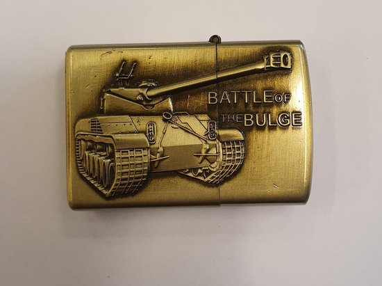 Aansteker benzine -brushed brass - (model zippo) battle of bulge