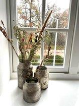 Decoratie Vaas Bloom - Silver - Set van 3 vazen