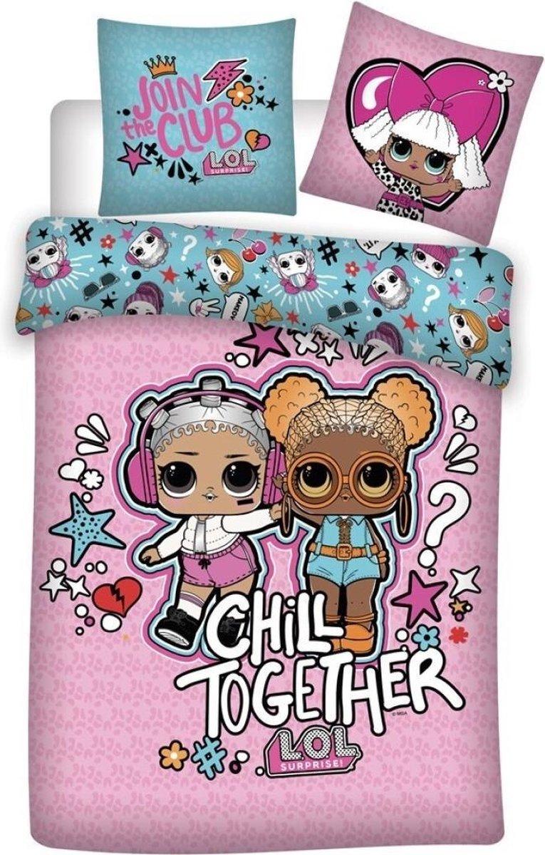 LOL Surprise! Dekbedovertrek Chill Together - Eenpersoons - 140  x 200 cm - Polyester