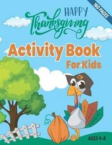 Thanksgiving activity book for kids 4-8