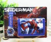 Spiderman Portemonnee + Horloge Set Donkerblauw | Marvel | Spiderman Cadeau Set