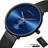 CRRJU® Horloges voor Vrouwen Dameshorloge Meisjes Moederdag Cadeautje Cadeau – Dames Watch Horloge – Horlogebox Geschenkdoos – Zwart Blauw