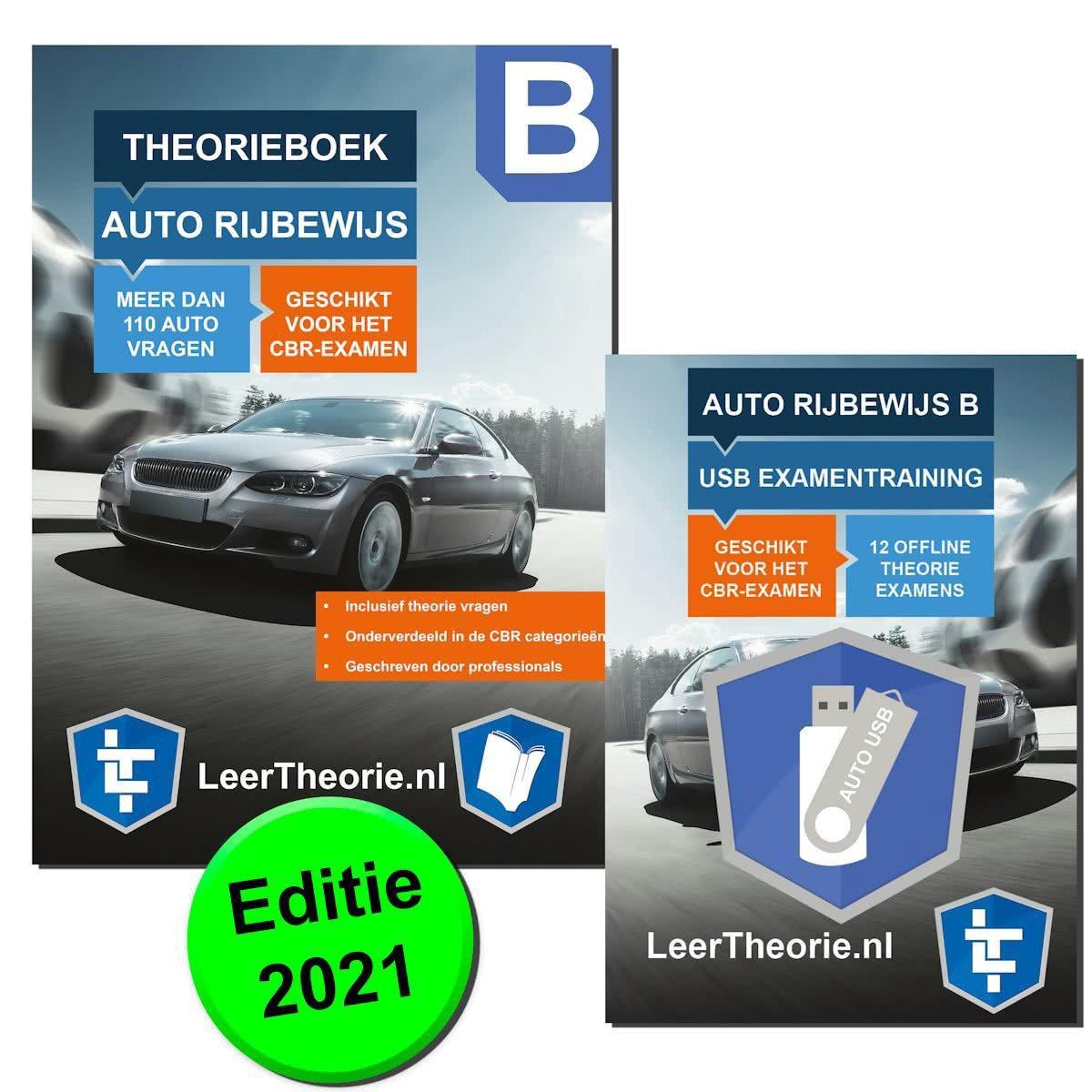 AutoTheorieboek 2021 Rijbewijs B AutoTheorieboek voor Nederland + USB Stick Theorie-Examens