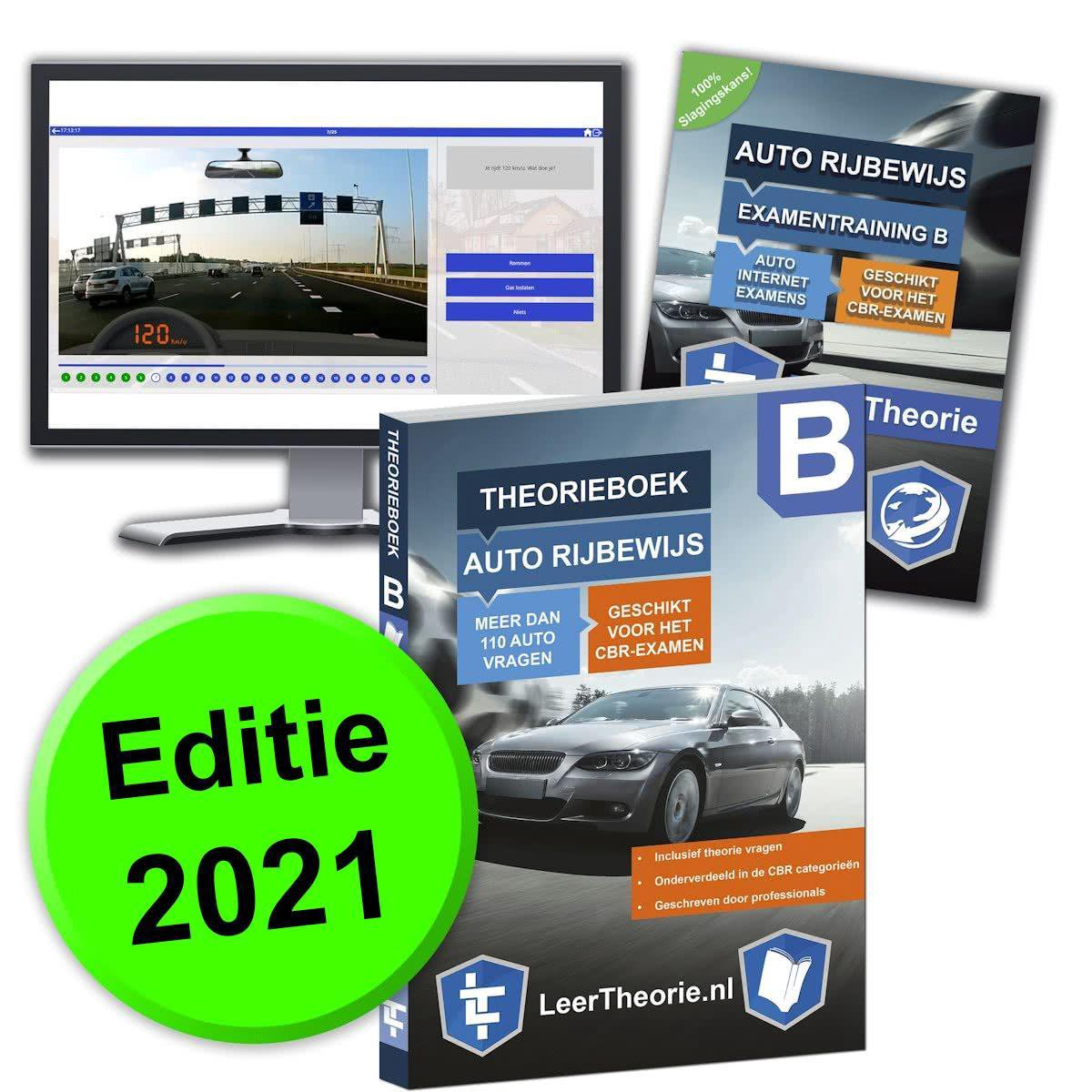 AutoTheorieboek 2021 - Auto theorie oefenen - Theorie Leren Auto Rijbewijs B + 20 uur Online met CBR