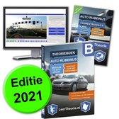 Boek cover AutoTheorieboek 2021 - Auto theorie oefenen - Theorie Leren Auto Rijbewijs B + 20 uur Online met CBR theorie Examen van LeerTheorie BV (Paperback)
