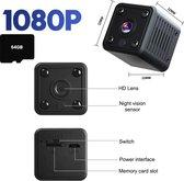 Yaqubi - spy camera - verborgen camera - INCLUSIEF 64GB - bewakingscamera - mini camera - spy - bewakingscamera voor binnen - bewakingscamera voor buiten - 1080P - 64GB.