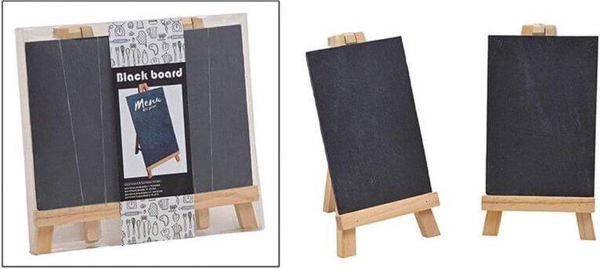 Merkloos / Sans marque 4x Krijtbordjes voor memo's en teksten van hout Formaat: 21 x 20 cm Krijtborden/schoolborden Schilderezels online kopen