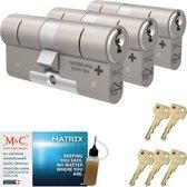 Cilinderslot M&C Matrix SKG*** (3 stuks)