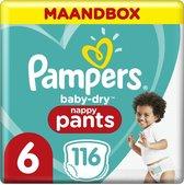 Pampers Baby-Dry Pants Luierbroekjes - Maat 6 (15+