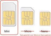 M2M Simkaart - Mini - 2G/3G/4G - Data/SMS/Bellen - Voor GPS Trackers / Alarmsysteem / Camera's - Internet Of Things apparaten - Wereldwijde dekking