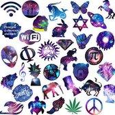 space themed objects - sticker set | vinyl stickers | 35 stuks