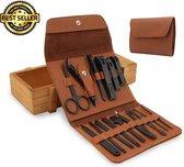 Manicure Set met Gezichtsmasker - Nagelset Pedicure - Nagelknipper - Nagelvijl - Nagelschaar - RVS
