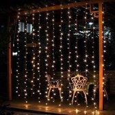 J-Pro Tuinverlichting - Kerstverlichting - Lichtgordijn - Curtain Lights 3x2m - Met Stekker
