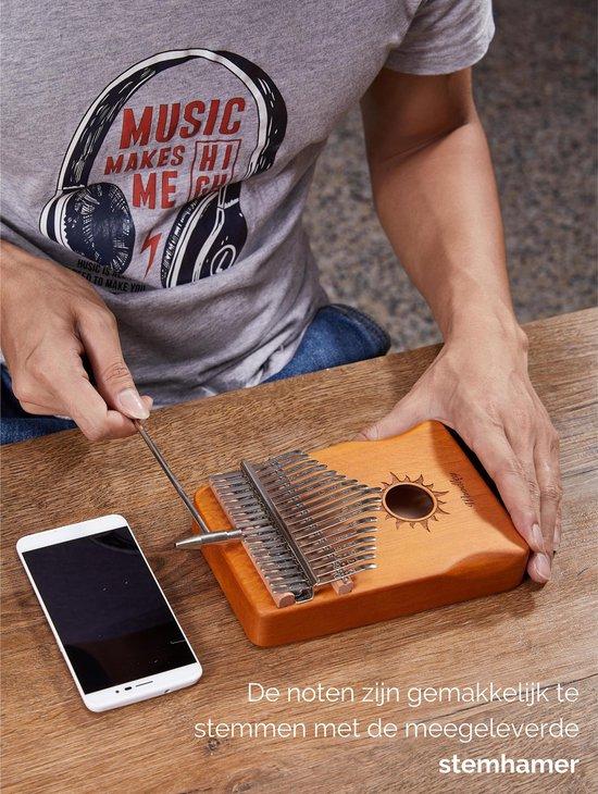 Kalimba set - 17 tonen - Duimpiano - Muziekinstrument - Bamboe - Inclusief waterdichte opbergcase