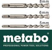 SDS boren set Metabo 5mm - 6mm - 8mm