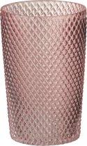 J-Line Vaas Recht Hoog Glas Roze Small