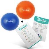 Revibes® 2 Stressballen + Ademhalingstechnieken En Oefeningen – Stressbal – Stressbal Voor Hand – Stressballen Volwassenen