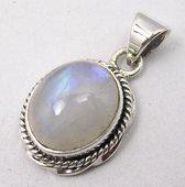 Natuursieraad -  925 sterling zilver maansteen hanger pendant - luxe edelsteen sieraad - handgemaakt