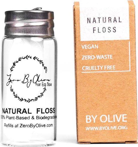 Natuurlijke Flosdraad Biologisch Afbreekbare Eco Floss in Hervulbare Plasticvrije Verpakking - By Olive