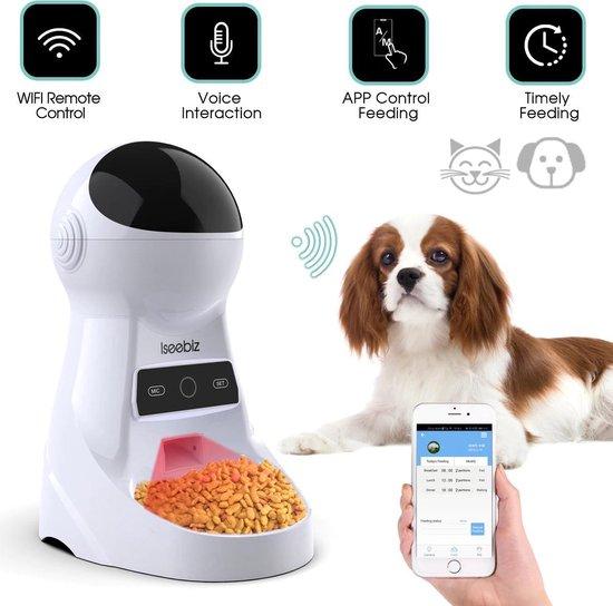 Automatische Voerbak 3L | Hond & Kat | Microfoon & Speaker | Wifi & App